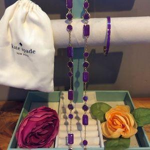 Kate Spade ♠️Necklace and Bracelet Set